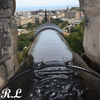 cañon del castillo de Edimburgo