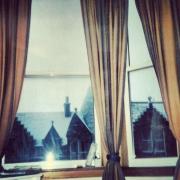 Nieve tras mi ventana