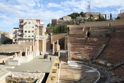 Teatro romano de Cartagena. foto Raquel Lopez