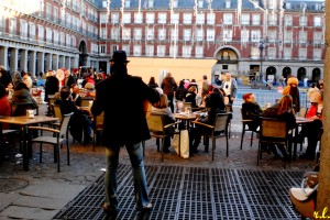 Músico en la plaza Mayor