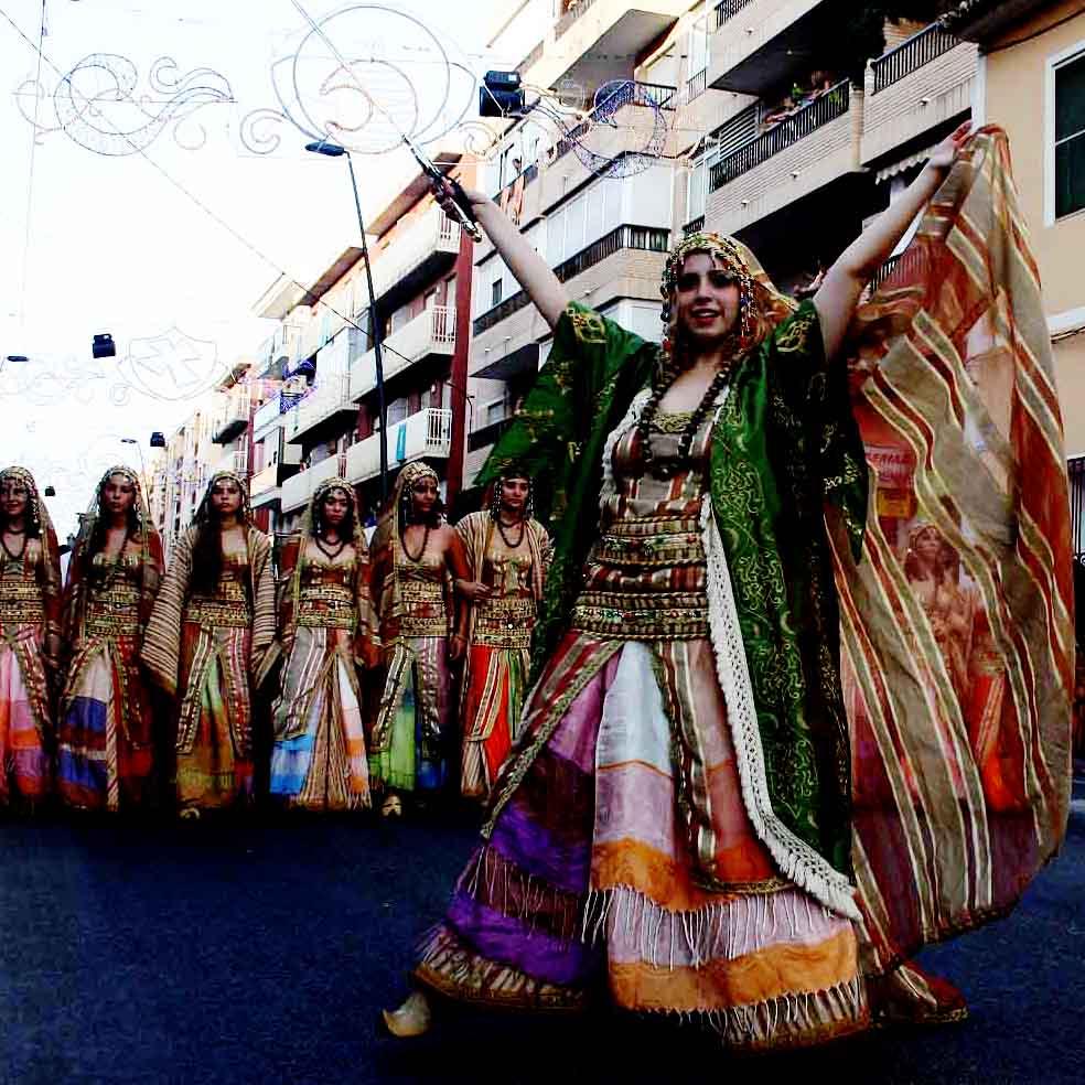 Moros y Cristianos Villajoyosa. Desfile Moro