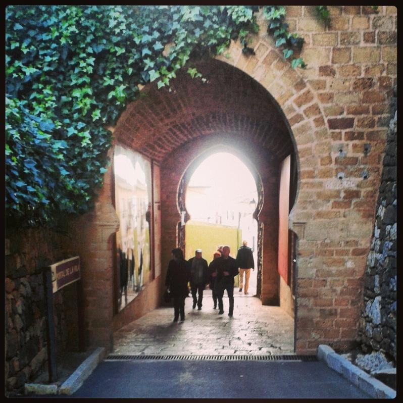 Puerta del castillo de denia