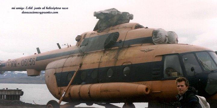 Helicoptero de barentsburg