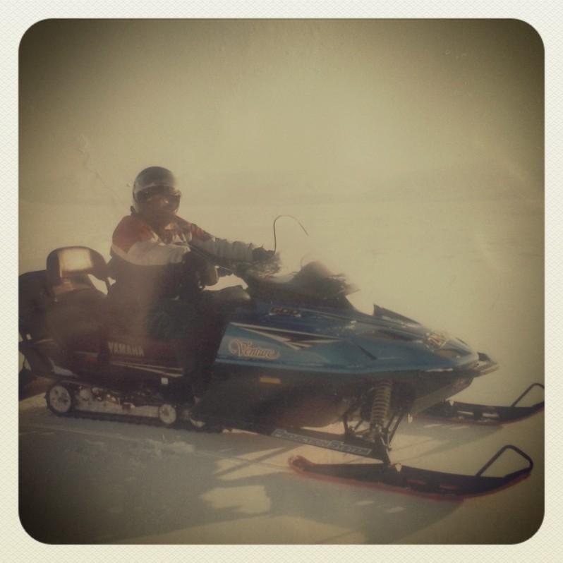 en snowscooter