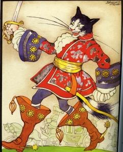 Gato con Botas pintado por Jesús Sánchez Tena