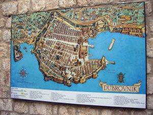 Mapa de Dubrovnik