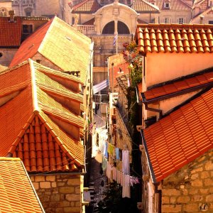 Tejados de Dubrovnik desde sus murallas