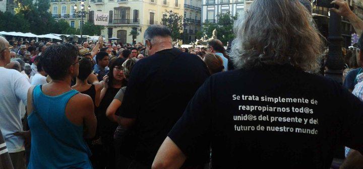 Manifestación víctimas Metro Valencia. Septiembre 2013