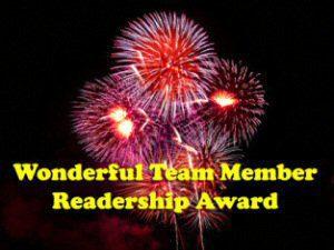 Wonderful Team Member Readership Award, ¡Gracias!