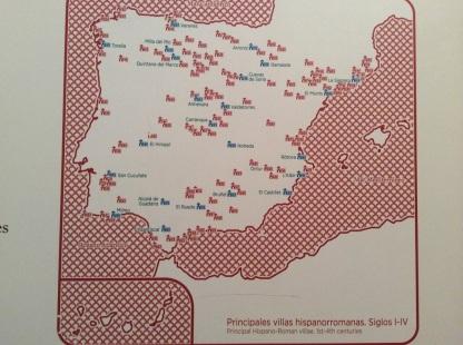 Mapa de Villas Romanas de la Península Ibérica (Museo Arqueológico de Madrid)