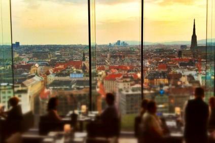 Terraza del bar de Alberto en Viena