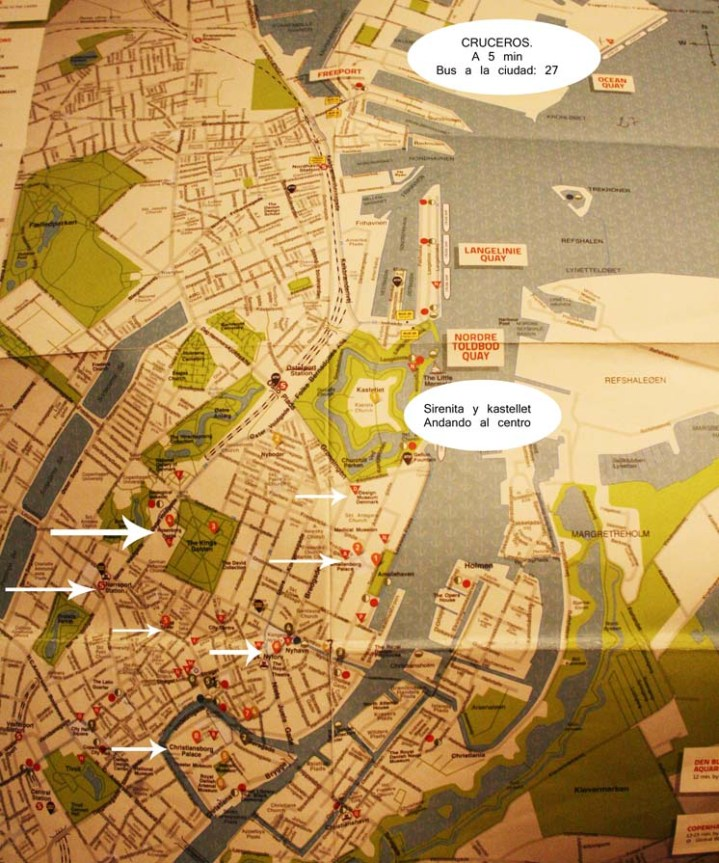 Mapa de Copenhague
