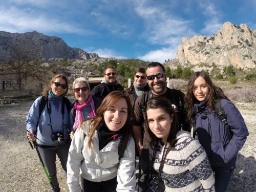 Con el grupo de Oxytours en el ascenso a AITANA