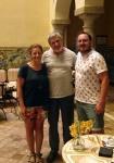 Con el actor Vicente Cuesta, que esa noche sería Marco Aurelio
