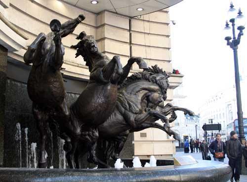 Los 4 caballos de Helios, escultura de Rudy Weller