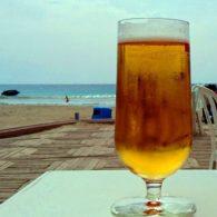 Cervecitas en el chiringuito de Moraira donde dejan estar con perros